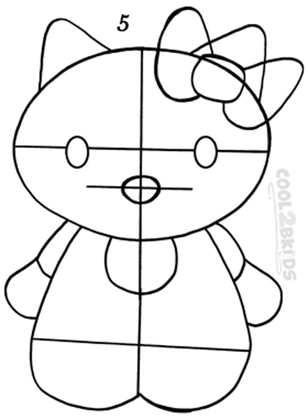 how to draw hello kitty step by step pictures cool2bkids