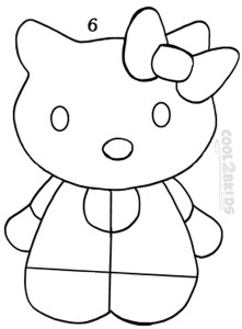 How To Draw Hello Kitty Step 6