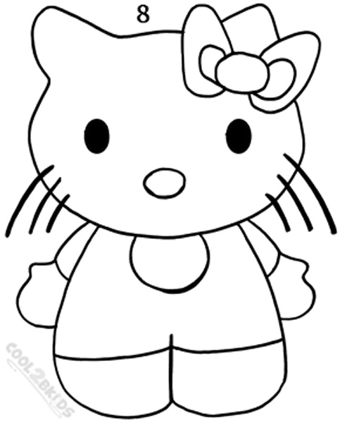 how to draw hello kitty step 8