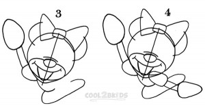 How To Draw Minnie Mouse Step 2