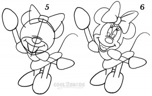 How To Draw Minnie Mouse Step 3