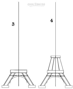 How To Draw The Eiffel Tower Step 2