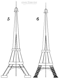 How To Draw The Eiffel Tower Step 3