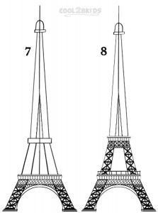 How To Draw The Eiffel Tower Step 4