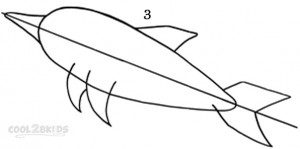 How To Draw a Dolphin Step 3