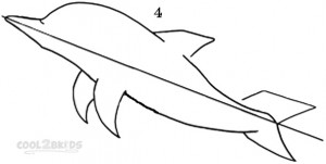 How To Draw a Dolphin Step 4