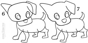 How To Draw a Puppy Step 3