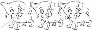 How To Draw a Puppy Step 4