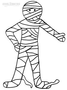 Image of Mummy Coloring Pages