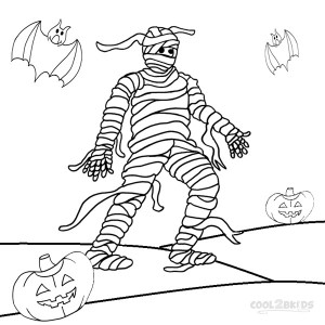 Mummy Coloring Pages Halloween Pics