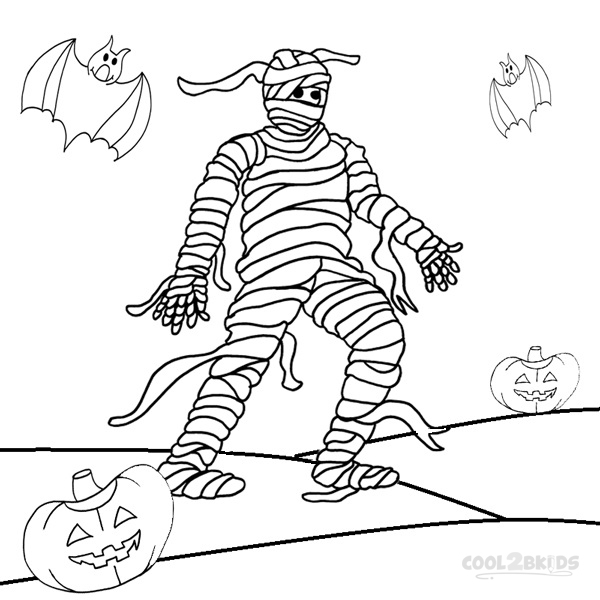 halloween mummy coloring pages - photo#18