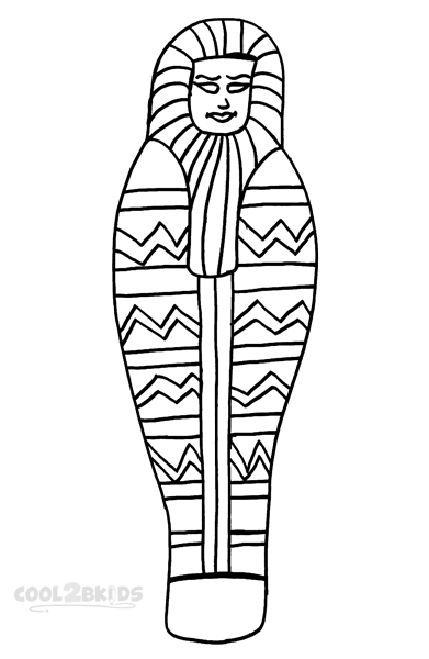 Picture of Mummy Coloring Pages To Print