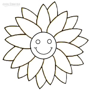 Smiley Face Coloring Pages For Kids