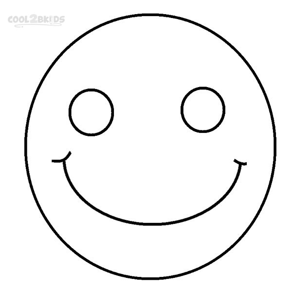 graphic relating to Printable Smiley Face referred to as Printable Smiley Experience Coloring Web pages For Little ones Neat2bKids