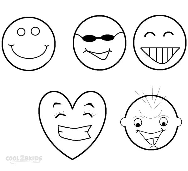 Smiling coloring pages ~ Printable Smiley Face Coloring Pages For Kids | Cool2bKids