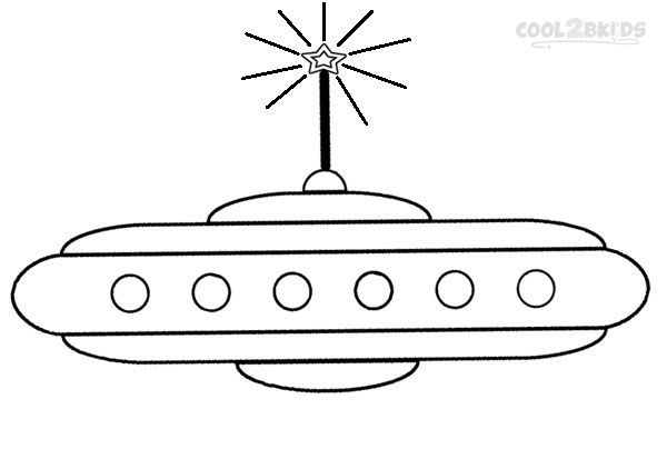 Spaceship coloring page printable picture
