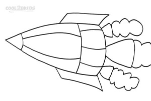 Spaceship Coloring Pages For Kids Photo