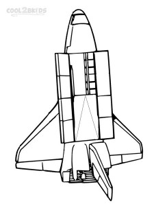 Pictures of Spaceship Coloring Pages Free