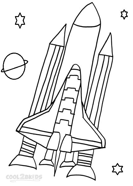 Picture of spaceship coloring pages