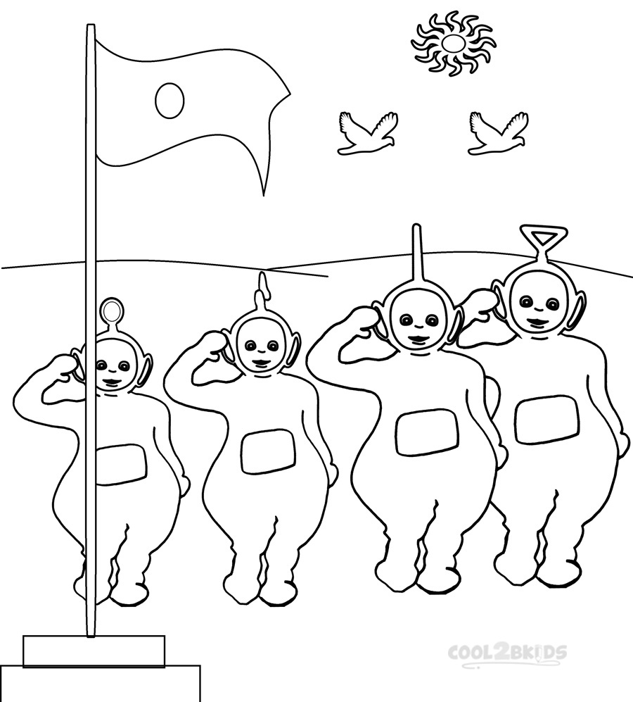 pictures of teletubbies coloring pages pictures - Teletubbies Dipsy Coloring Pages