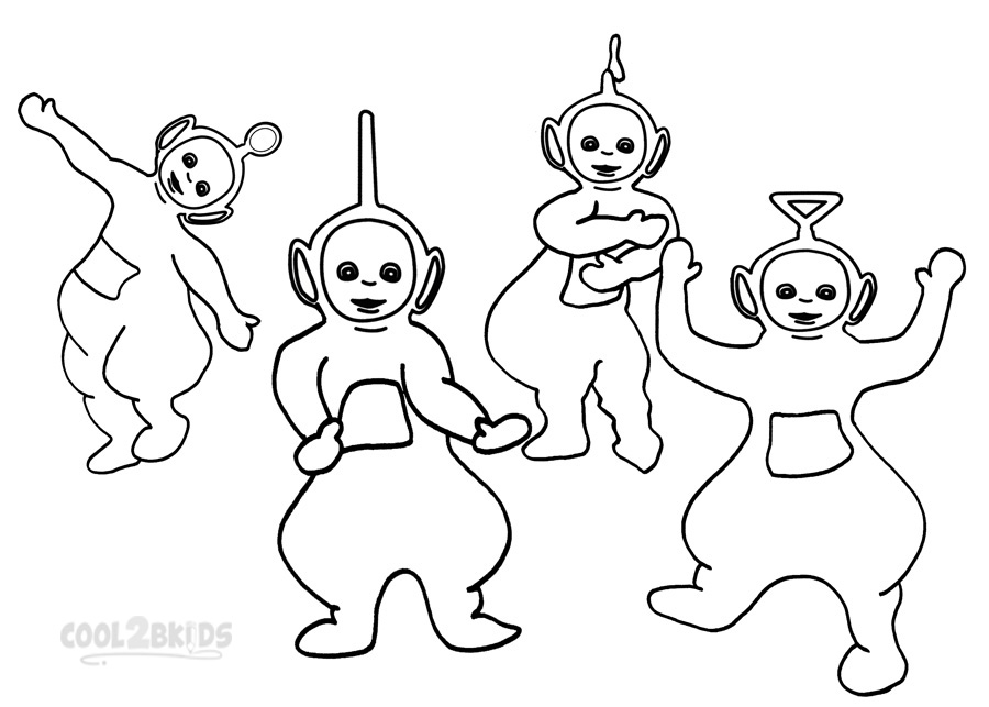 Images of Teletubbies Coloring Pages Printable