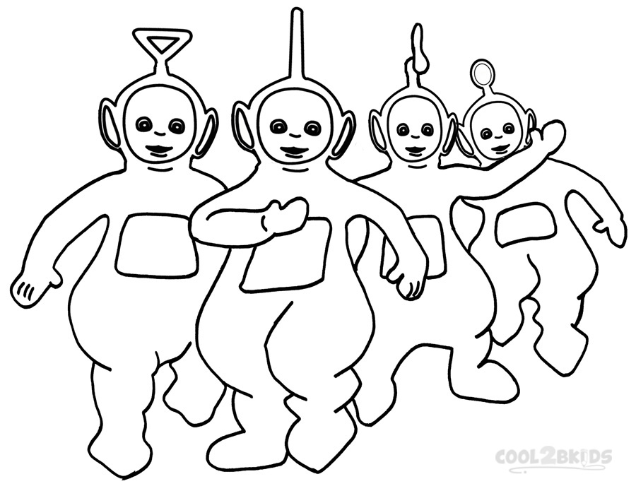teletubby coloring pages - photo#13