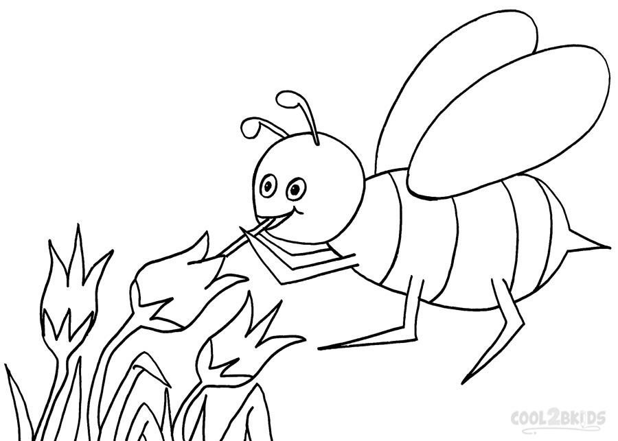 Printable Bumble Bee Coloring Pages For Kids Cool2bkids