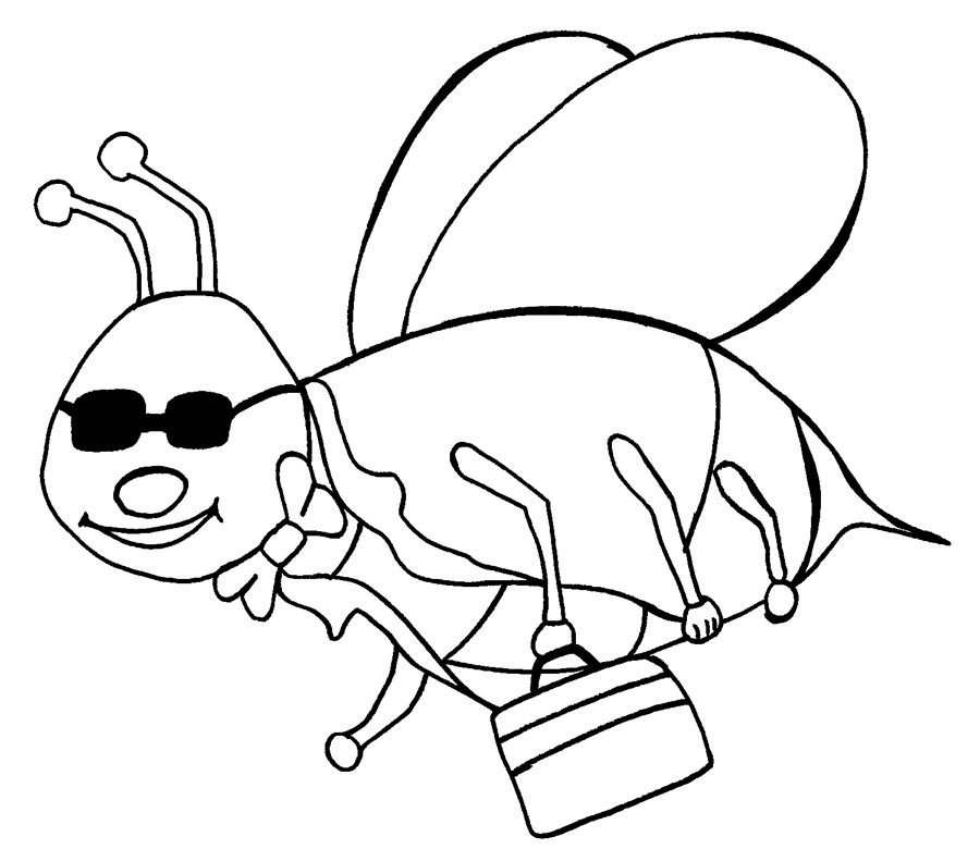 Free Bumble Bee Coloring Sheets
