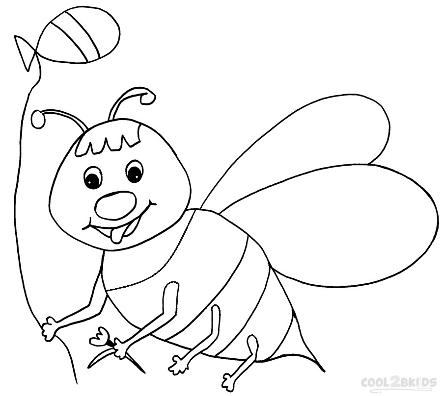 Free printable bumble bees coloring pages ~ Printable Bumble Bee Coloring Pages For Kids | Cool2bKids