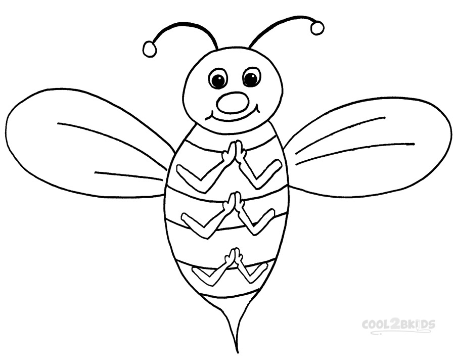 free bee coloring pages - photo#42
