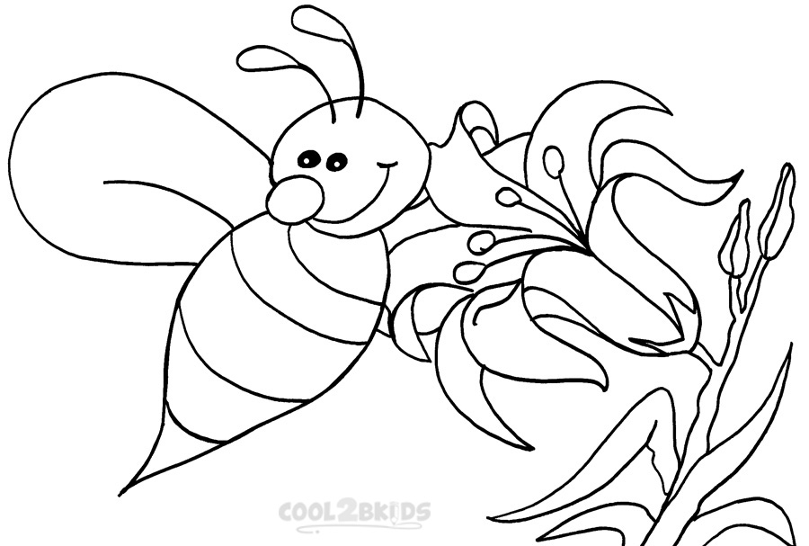Printable Bumble Bee Coloring Pages For Kids