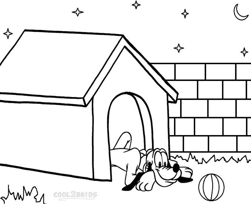 pluto coloring pages free - photo#34