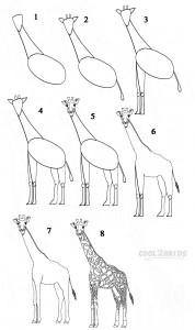 Draw a Giraffe Step by Step