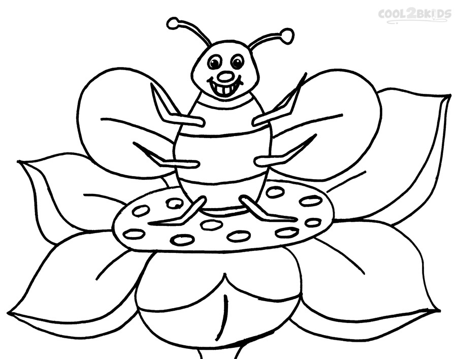 free bee coloring pages - photo#25