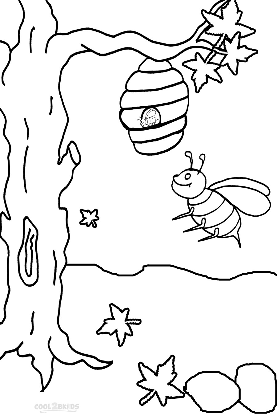 free bee coloring pages - photo#27