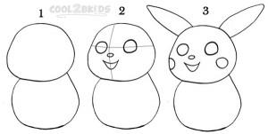 How To Draw Pikachu Step 1