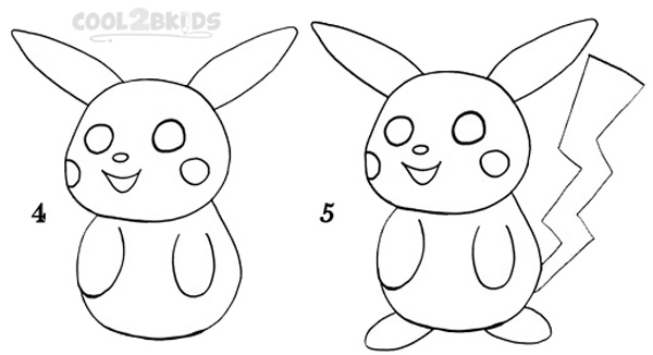How to draw pikachu step 2