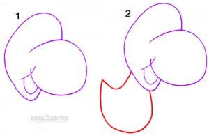 How To Draw Yoshi Step 1