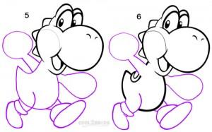 How To Draw Yoshi Step 3