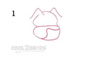 How To Draw a Cartoon Dog Step 1