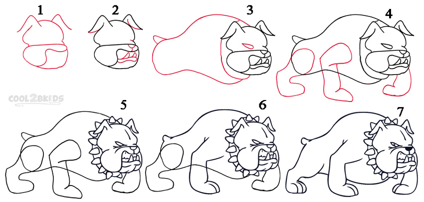 how to draw a cartoon dog step by step