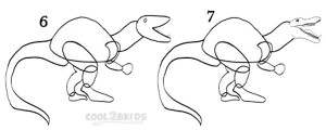 How To Draw a Dinosaur Step 3