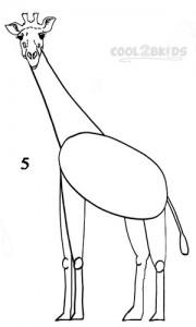 How To Draw a Giraffe Step 5