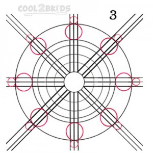 How To Draw a Snowflake Step 3