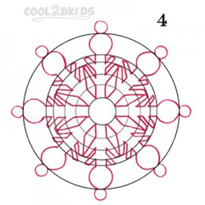 How To Draw a Snowflake Step 4