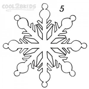 How To Draw a Snowflake Step 5