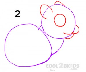 How To Draw a Squirrel Step 2