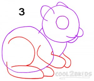 How To Draw a Squirrel Step 3