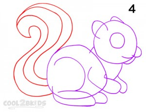 How To Draw a Squirrel Step 4
