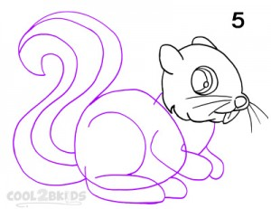 How To Draw a Squirrel Step 5
